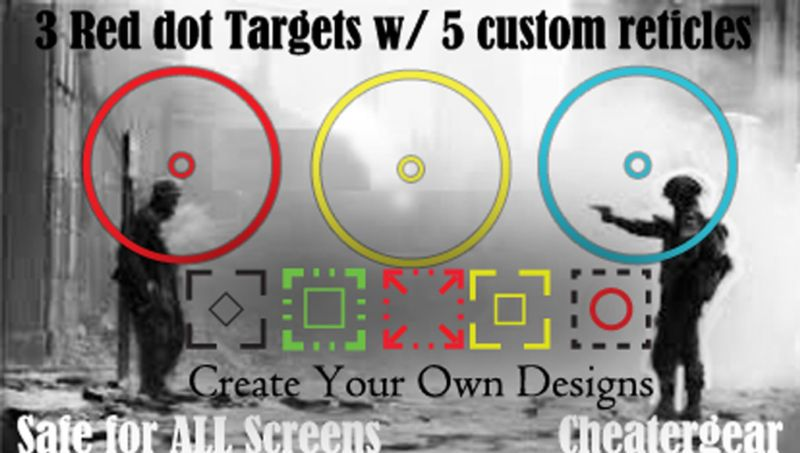 SCREEN AIMING TARGETS   Xbox 360 new Rapid Fire No scope perk Rank up