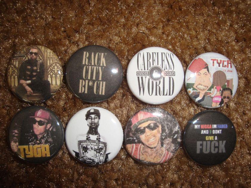 TYGA Buttons Pins Badges Careless World Last Kings Rack City Hoodie