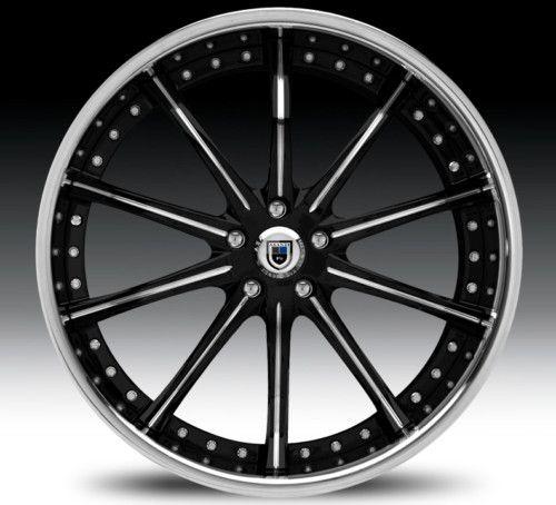 24 Asanti AF160 Black Chrome Wheels Rims 2 Piece Tone