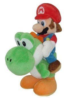 Nintendo Super Mario Bros. Riding Yoshi Plush 11059