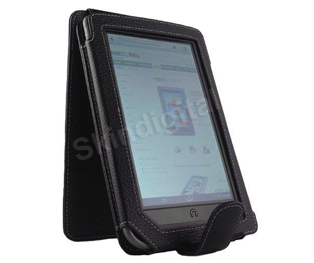 For Nook Tablet / Nook Color Green Leather Case Cover Jacket