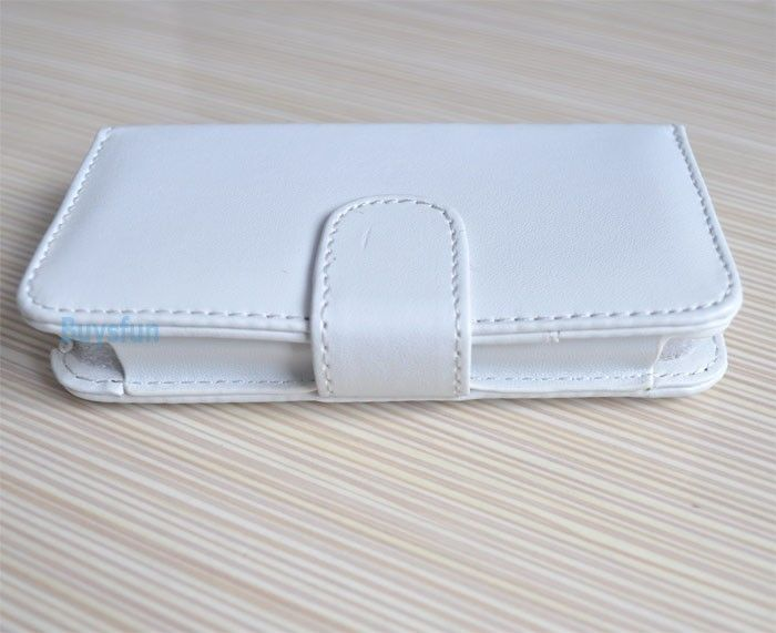 White Wallet Leather Flip Case Cover Skin for Apple iPhone 4S