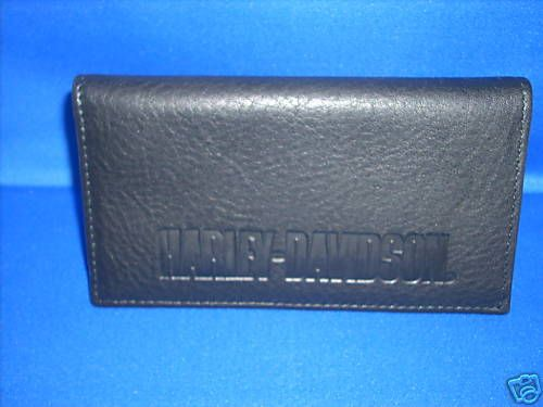 Harley Davidson EMBOSSED Leather Checkbook Cover