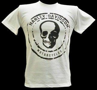 Harley Davidson Las Vegas Dealer Tee T Shirt WHITE SMALL #BRAVA1