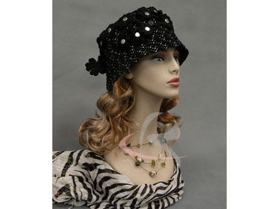Fiberglass Mannequin Head Vintage Wig Hat Earrings Necklace Display MD