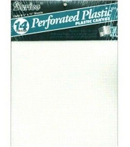 Plastic Canvas Perforated White Sheet 14 Count Needle point crafts