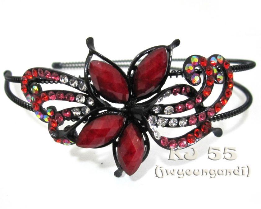 Butterfly Flower Rhinestone Headbands Hair Band H216